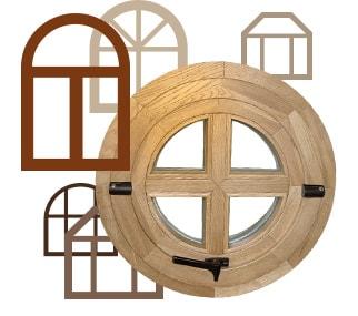 Деревянные окна нестандартной формы